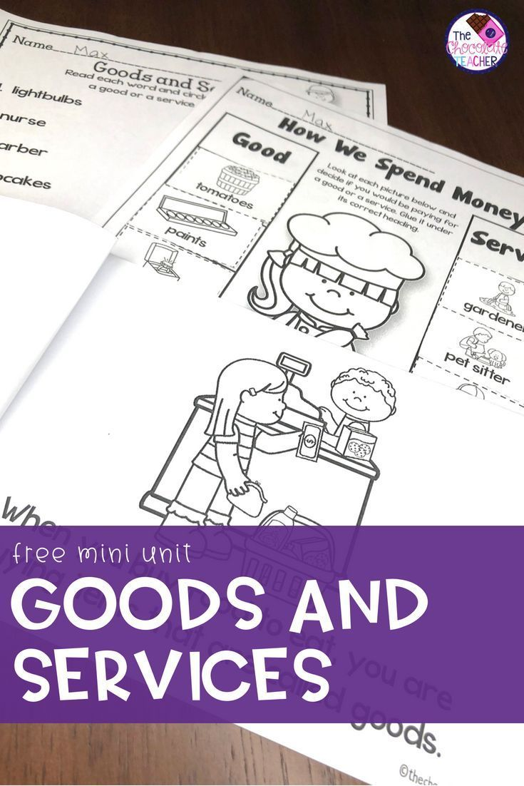 small resolution of Goods and Services Mini Unit FREE Product   Kindergarten social studies
