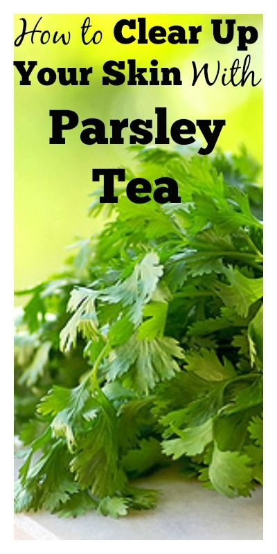 As good as this advice is (parsley is great for the skin) it should be noted that it is NOT TO BE USED BY PREGNANT WOMEN prolonged use of parsley tea can cause abortion during early pregnancy and birth defects in later term pregnancy. Always double check any claims about herbs you find online!!
