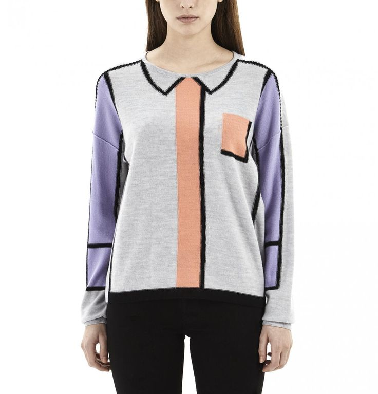 Grey Trompe L'Oeil Sweater
