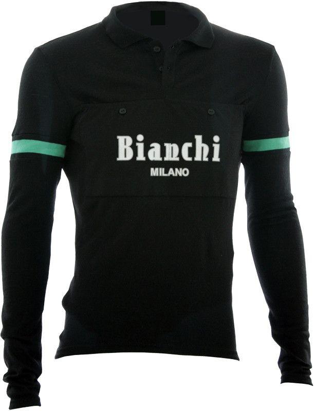 Bianchi-Milano Camastra Black Long Sleeve Wool Jersey