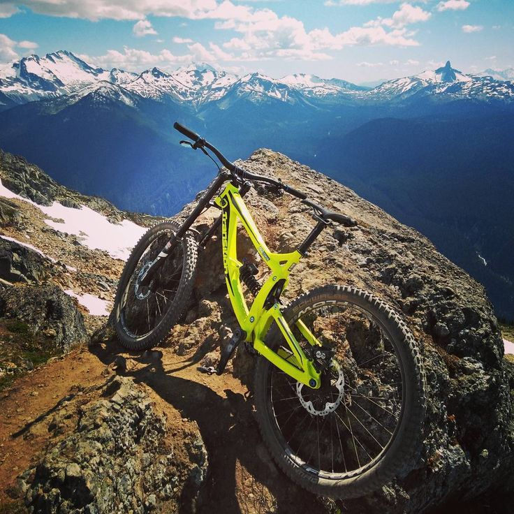 Getting to the top of the world with the TR500. Nothing like shredding a DH bike in Whistler.