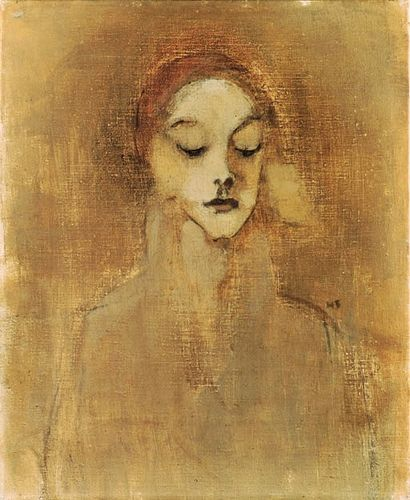 art-centric: Schjerfbeck, Helene (1862-1946) - 1920s The Gatekeeper's Daughter (Christie's London, 2001)