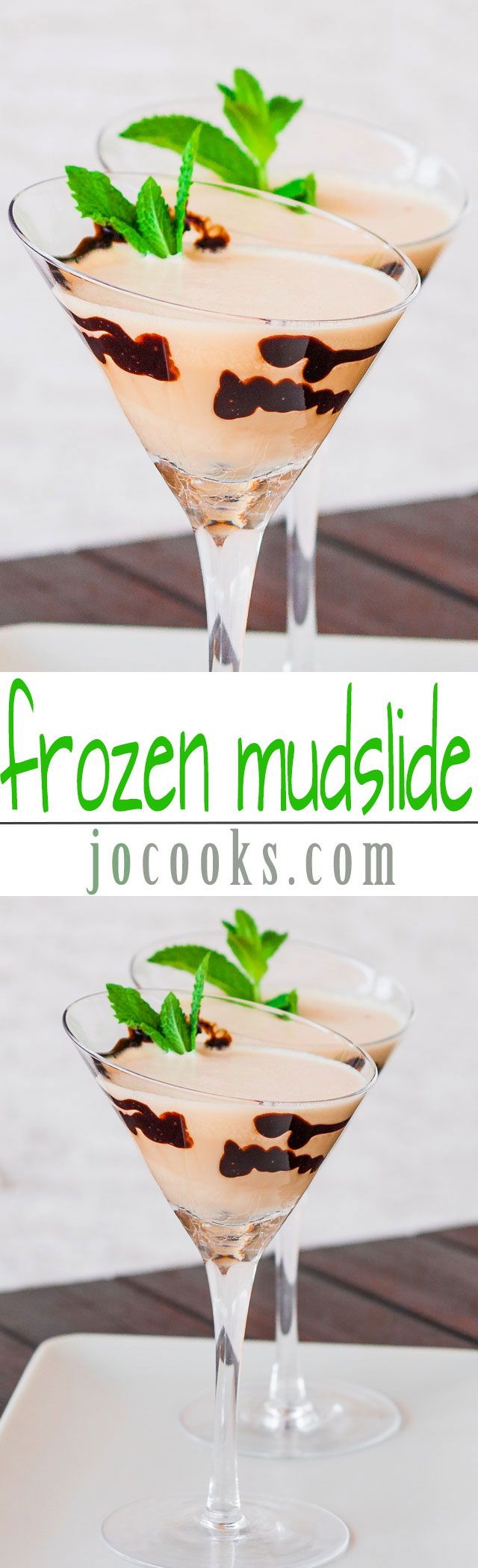 Frozen Mudslide – sweet and frozen, my latest favorite drink and a perfect way to cool off on a hot day.