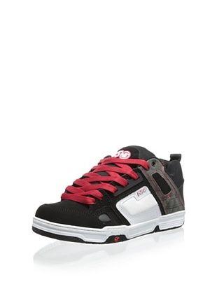 DVS Men's Comanche Skate Shoe, Black/White Nubuck, 11 D US
