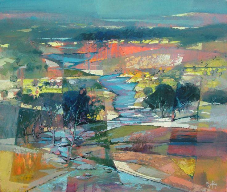"Saatchi Art Artist: Alex Bertaina; Oil 2010 Painting ""La corse du torrent"""