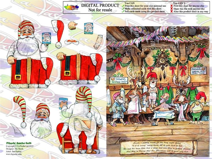 Download Sets - La Pashe Downloads - Flippin Christmas - Printable Heaven