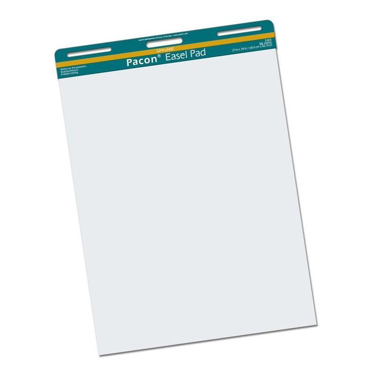 EASEL PAD 50 SHEETS UNRULED