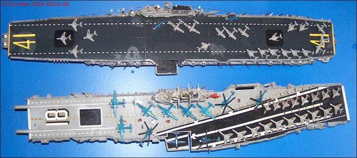 """USS """"Wasp"""" und """"Midway"""" 1:544 Revell"""