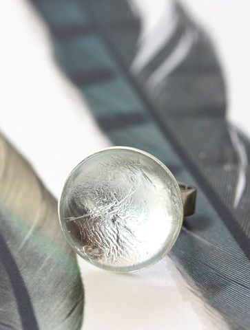 Silver Foil Ring by Cloud Nine Creative  www.cloudninecreative.co.nz