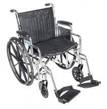 #wheelchair #Denver - Chrome Sport Wheelchair with Detachable Desk Arms and Swing Away Footrest - cs16dda-sf