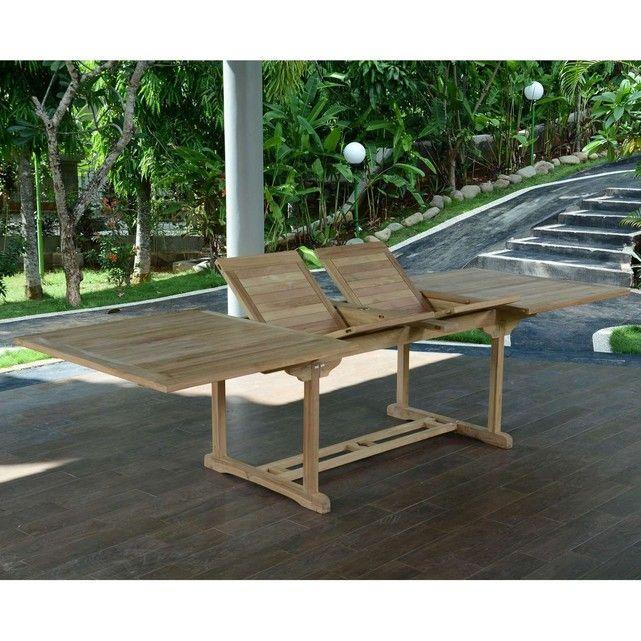 Table de Jardin en Teck Extensible 300 x 110 cm - Sydney ...