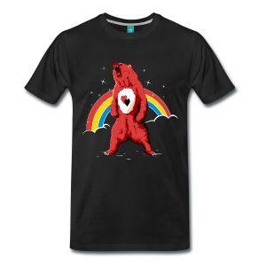 Svart Rainbow bear T-skjorter - Premium T-skjorte for menn