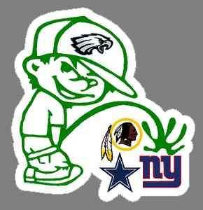 eagles pissing on redskins | Eagles pee on Cowboys , Giants , Redskins NFC EAST Indoor stickers