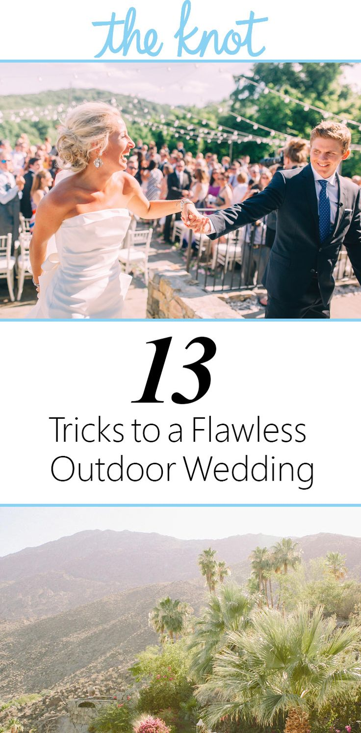 13 Tricks to a Flawless Outdoor Wedding | https://www.theknot.com/content/tricks-for-an-outdoor-wedding