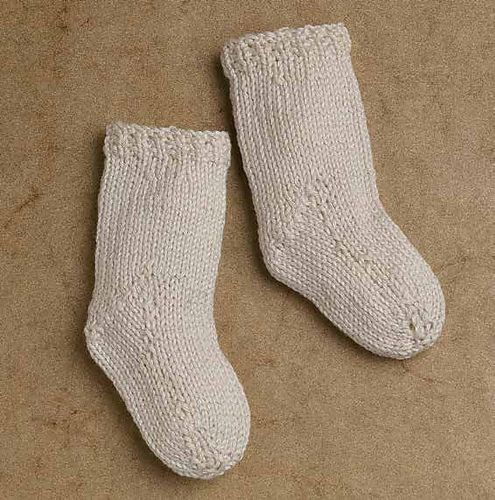Ravelry: Baby's Christening Set: Stockings pattern by Eileen Lee