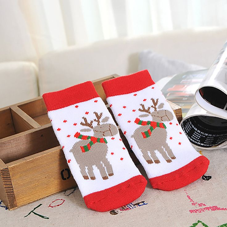 Baby Christmas Reindeer Socks - Babys First