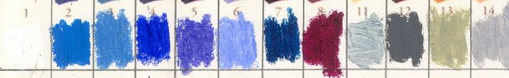 Sennelier Oil Pastel color charts