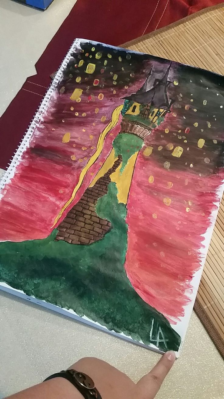 """selfmade inspirated by the disney movie """"Tangled""""  And at last I See the Light  #tangled #rapunzel #drawing #art #light #love #it"""