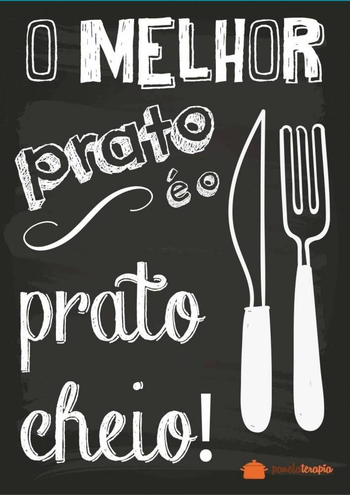 Poster O Melhor Prato é o Prato Cheio - Panelaterapia