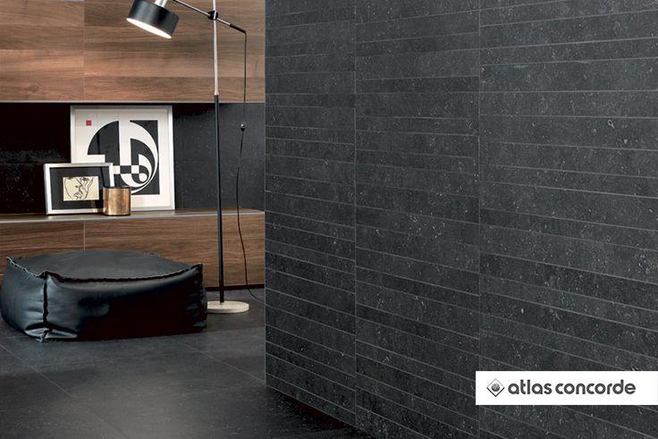 #SEASTONE Black | #AtlasConcorde | #Tiles | #Ceramic