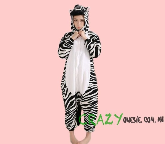 Zebra Onesie. 25% off EVERYTHING in store. Free Express Delivery Australia-wide. Visit www.crazyonesie.com.au for more details. Visit our Facebook page https://www.facebook.com/crazyonesie for exclusive competitions and discounts