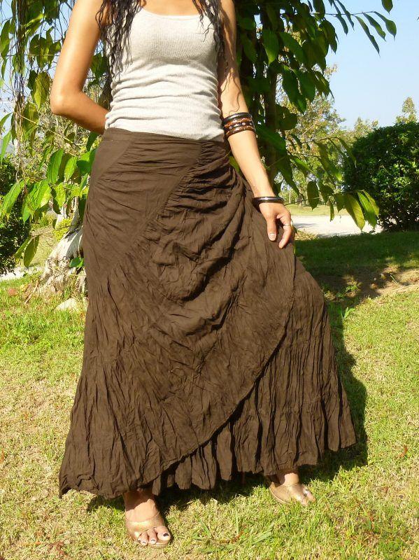 726fd6ae722 Flamenco Skirt   Wrap Skirt   Handmade   100% Cotton   Free Shipping    SS-Choco