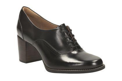 Clarks Tarah Victoria - Zwart Leer - Damesschoenen gekleed   Clarks
