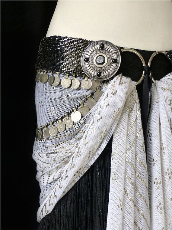 Tribal Fusion Belly Dance Belt Adornment  Zhuzik  by mezuri, £105.00