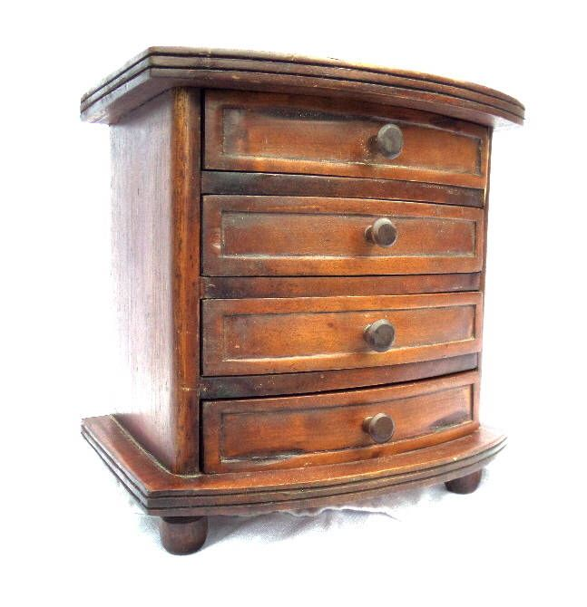 "Small Chest of Drawers, Antique Handmade Mahogany Set of Drawers, 4 Drawers, Ideal Keepsake, Jewellery, Vanity Storage, 9"" x 9.25 x 6.5"" by BlackSquirrelHome on Etsy https://www.etsy.com/uk/listing/525311754/small-chest-of-drawers-antique-handmade"