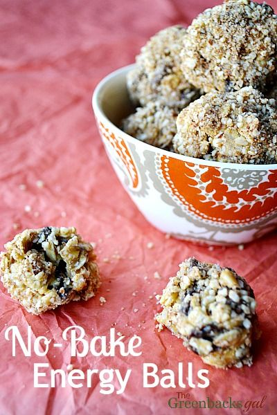 Healthy No-Bake Energy Balls Recipe - Way better than any store bought energy bar