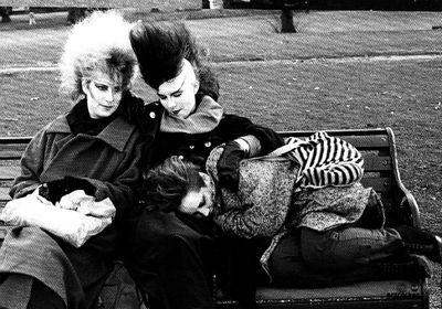 Photo: Gavin Watson, early 1980s / Scan via Artrocker magazine, Issue 85: January 2009 † #goth #gothic #gothicsubculture #gothaesthetics #postpunk #blackandwhite #portrait #punks #mohawks #darkpunks #British #Subculture #GavinWatson #1980s
