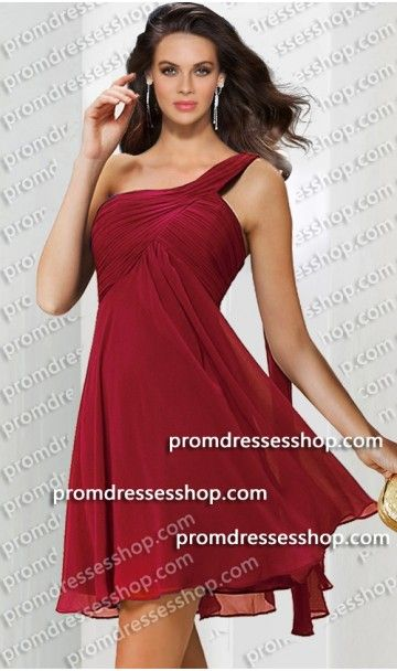 5dc367e7ba9b flowy ruched one shoulder short chiffon dress