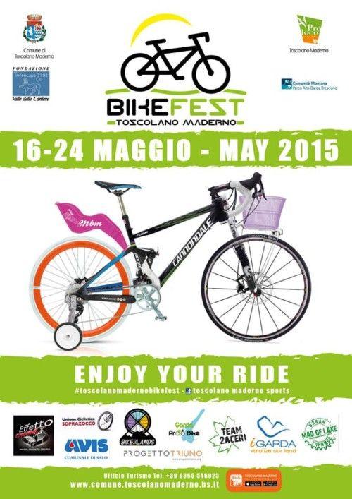 Il Bike Fest sarà a Toscolano Maderno dal 16 al 24 maggio 2015 @gardaconcierge