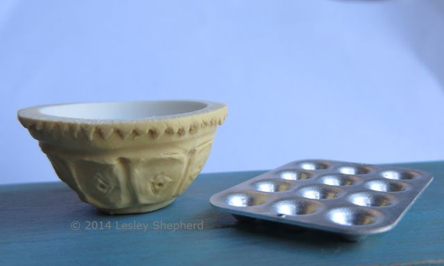 """Make  """"Downton Abbey"""" Bowls for your Dollhouse Kitchen: Using Polymer Clay to Make Miniature Kitchen Mixing Bowls"""
