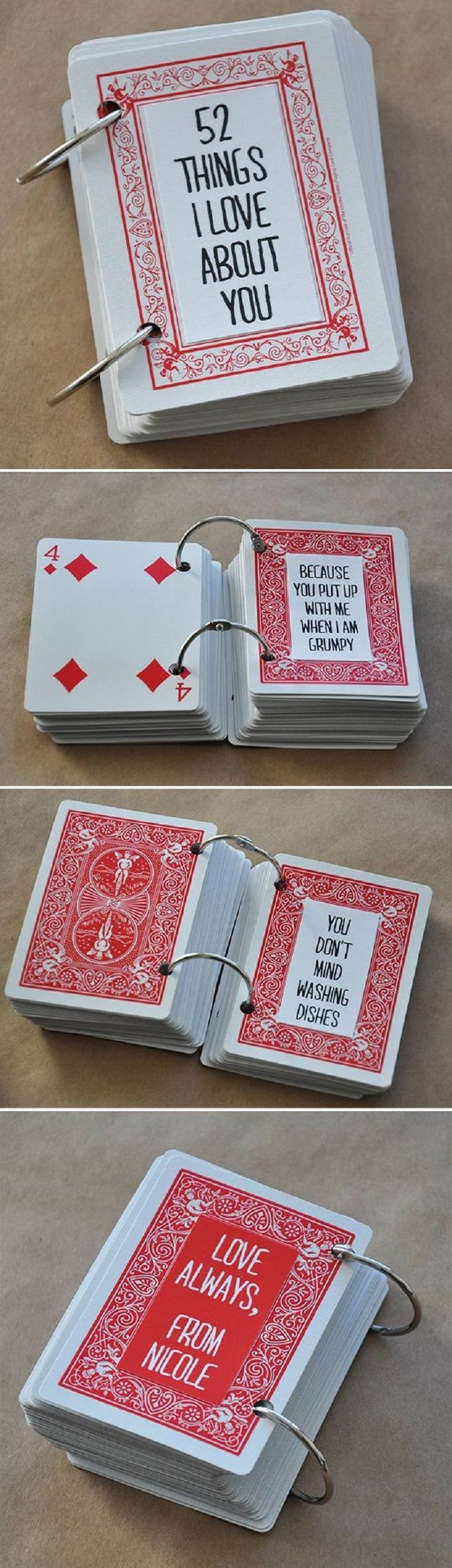 52 Things I Love About You – Perfect Present Idea for Your Man - 15 Low- Cost and Lovable DIY Valentine's Day Gifts for Him
