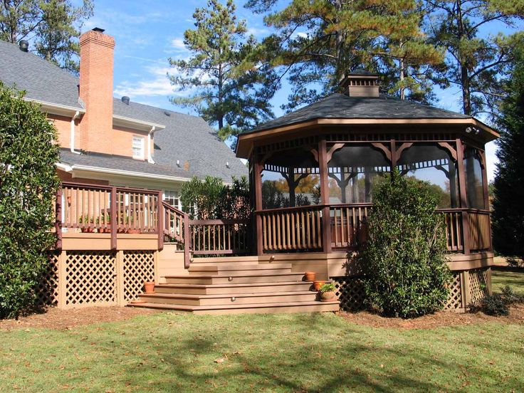 17 best images about gazebo ideas for your backyard on for Built in gazebo
