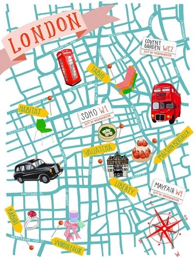 London map illustration