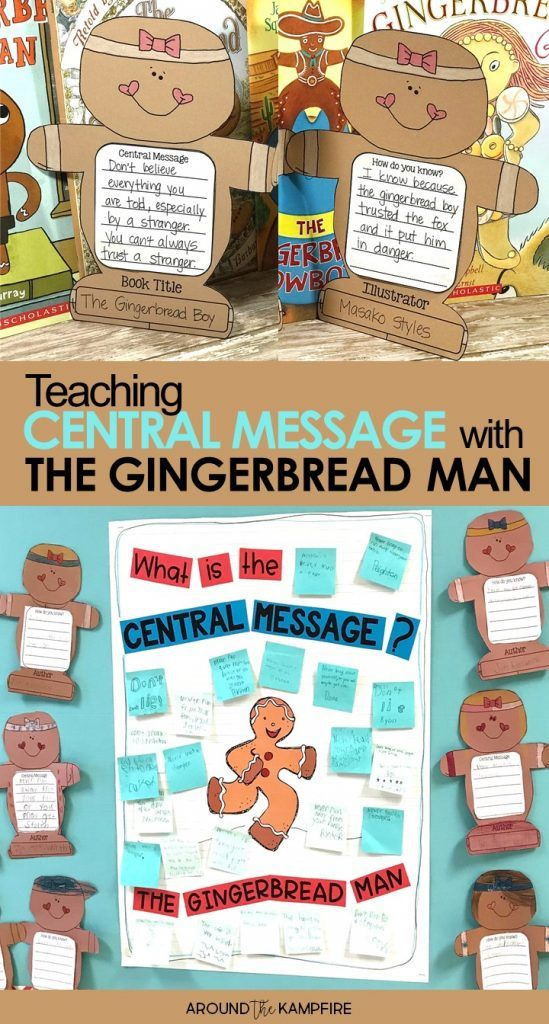 Teaching central message to 1st, 2nd, and even 3rd graders can be tricky. Using a familiar story like The Gingerbread Man along with the steps and guiding questions in this post can help students understand and determine the central message, big idea, lesson, or moral in a text. These teaching ideas and anchor chart are ideal for first, second and third grade teachers and homeschool parents.