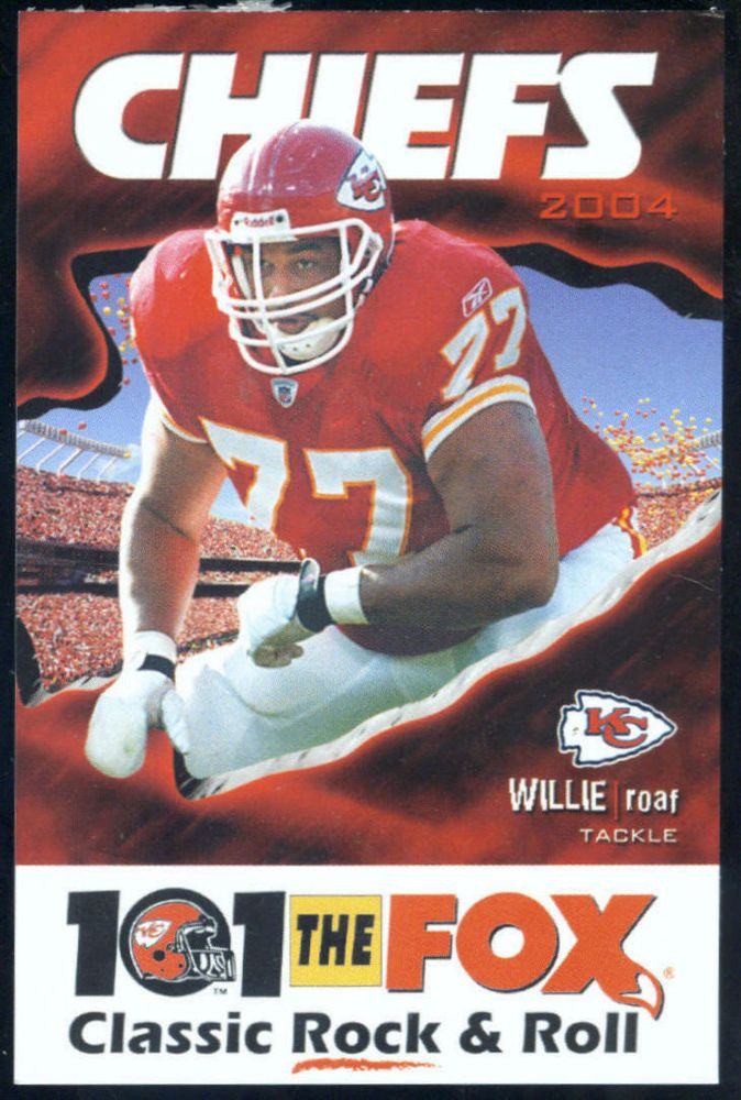 2004 KANSAS CITY CHIEFS 101 THE FOX RADIO FOOTBALL SCHEDULE ROAF ON COVER