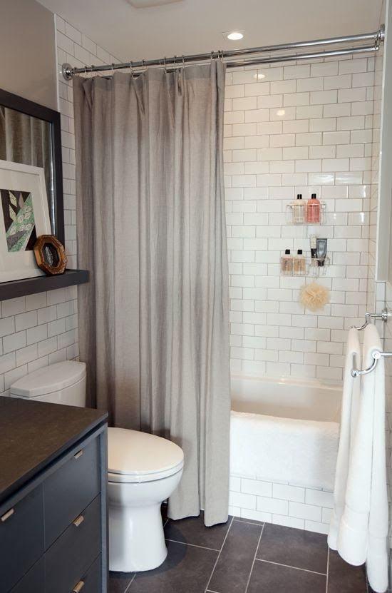 Nicely updated standard bathroom with really simple additions