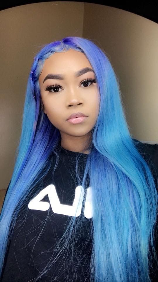 Black And Blue Hair Wigs