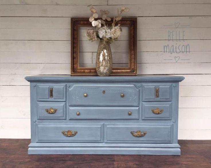 Stillwater Blue Chalk Style Paint Dresser