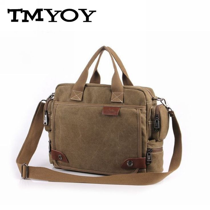 TMYOY 2016 new casual style men's canvas shoulder bags with strap office bag men with cell pehone pocket men's bag MW020