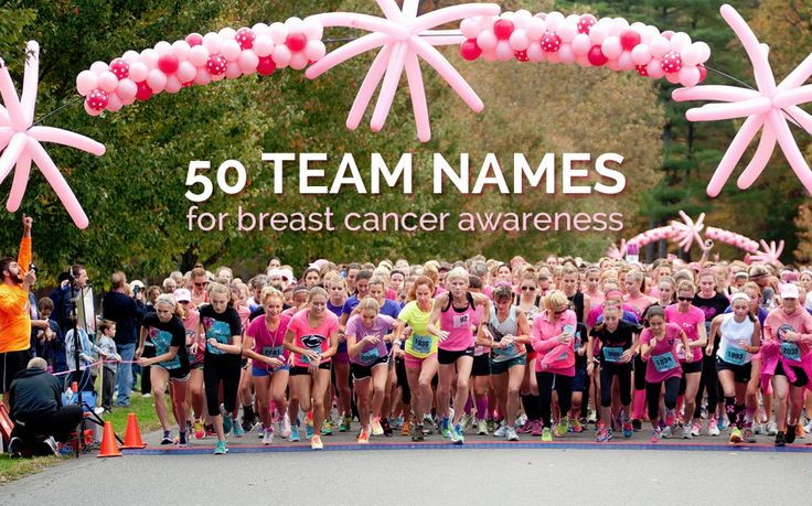 50 Team Names for Breast Cancer Awareness Walks
