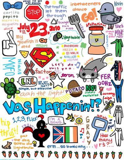 beautiful Doodles collage | SI ERES DIRECTIONER, DEBES SABER TODO ESTO :)