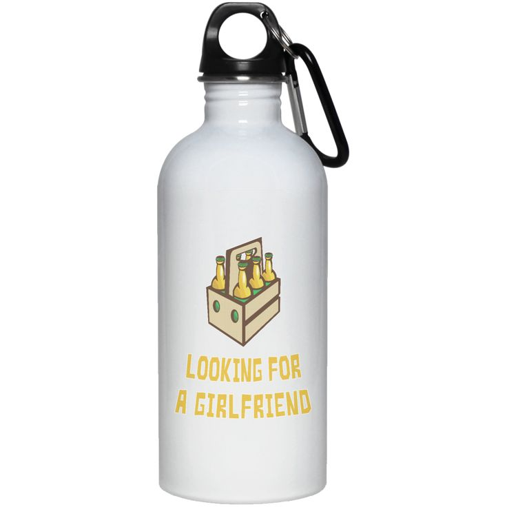 6 PACKS LOOKING FOR A GIRLFRIEND 23663 20 oz. Stainless Steel Water Bottle