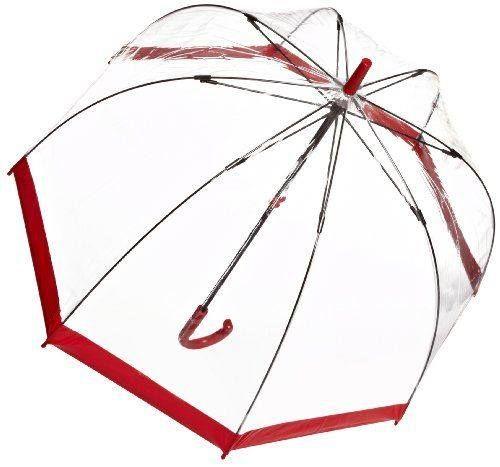 Paraguas Transparente Rojo http://www.milideaspararegalar.es/producto/paraguas-transparente-rojo/