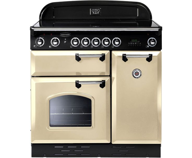Rangemaster CLAS90EICR/C Classic 90cm Electric Range Cooker with Induction Hob - Cream / Chrome