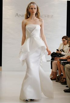Angel Sanchez wedding gown (peplum gown)