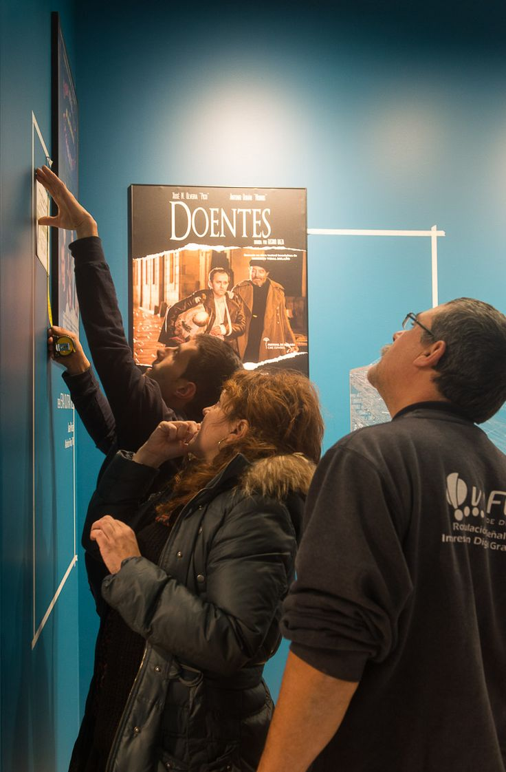 Exposición sobre os 25 anos do cine galego. Foto: Manuel G. Vicente.